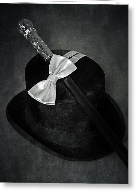 Black Top Greeting Cards - Gentleman Greeting Card by Joana Kruse