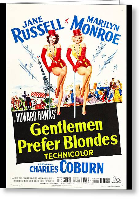 1953 Movies Greeting Cards - Gentlemen Prefer Blondes Greeting Card by Steven Parker
