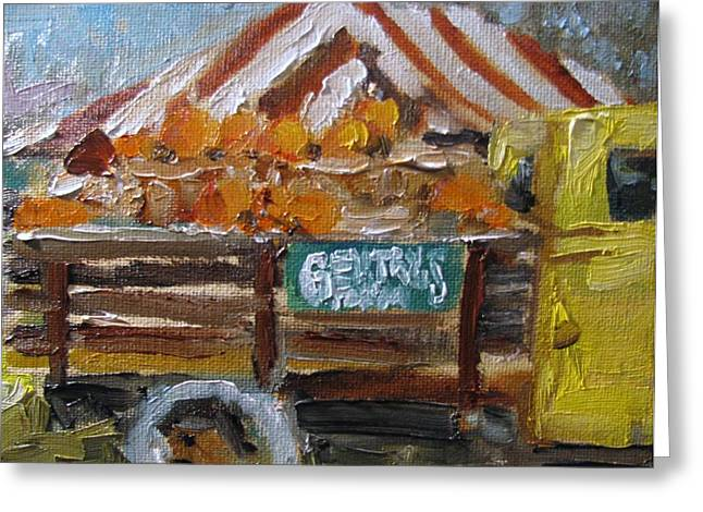 Franklin Farm Paintings Greeting Cards - Gentrys Farm Greeting Card by Susan E Jones