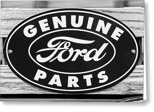 Genuine Ford Parts Sign Greeting Card by Jill Reger