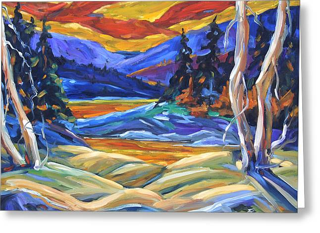 Montreal Paintings Greeting Cards - Geo Landscape II by Prankearts Greeting Card by Richard T Pranke