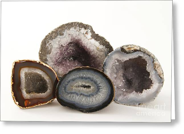Geodes Greeting Card by Photo Researchers