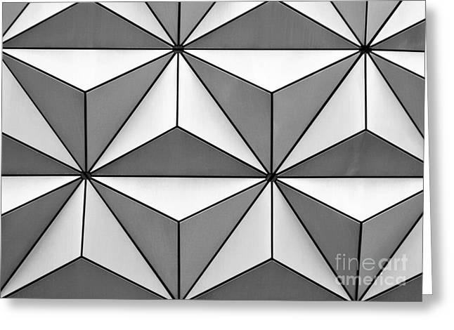 Geodesic Greeting Cards - Geodesic Pyramids Greeting Card by Sabrina L Ryan