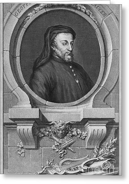 1300s Greeting Cards - Geoffrey Chaucer, English Author Greeting Card by Middle Temple Library