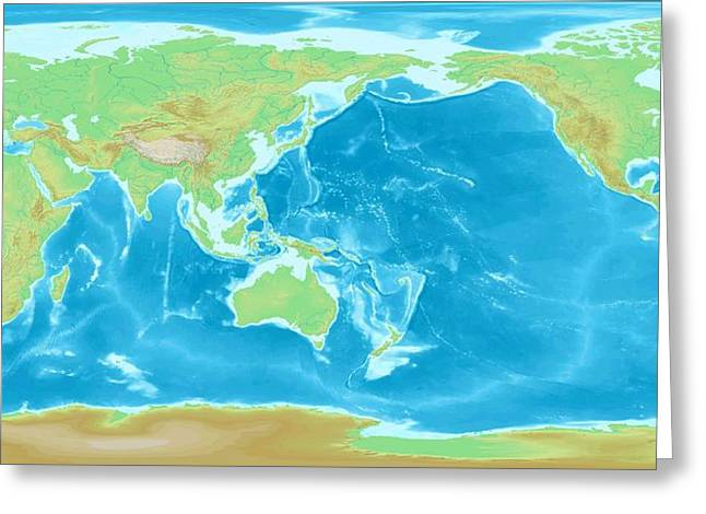 Geographic World Map Greeting Card by L Brown