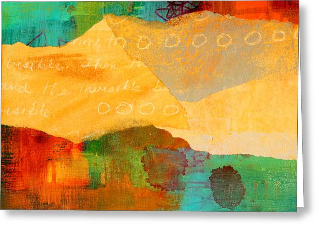 Geography Mixed Media Greeting Cards - Geography Greeting Card by Nancy Merkle