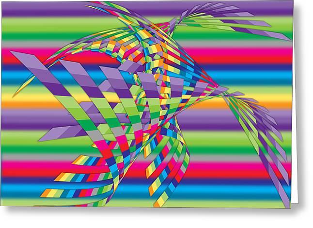 Surreal Geometric Greeting Cards - Geometric 3 Greeting Card by Mark Ashkenazi