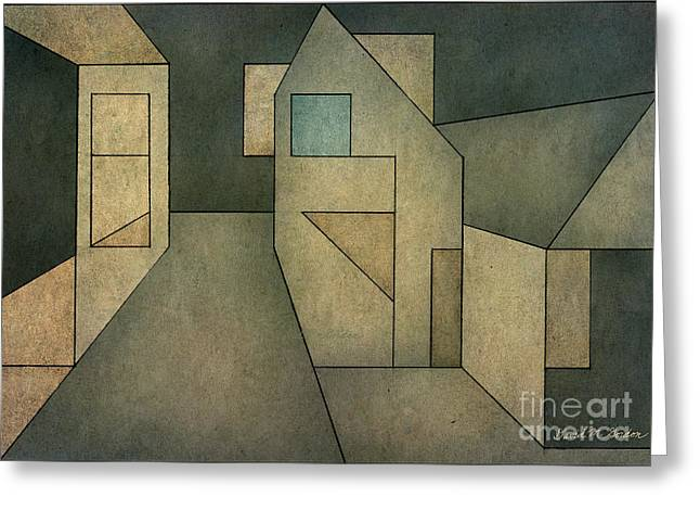 Geometric Abstraction Mixed Media Greeting Cards - Geometric Abstraction II Greeting Card by David Gordon