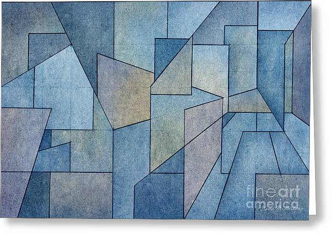 Geometric Abstraction Mixed Media Greeting Cards - Geometric Abstraction III Greeting Card by David Gordon