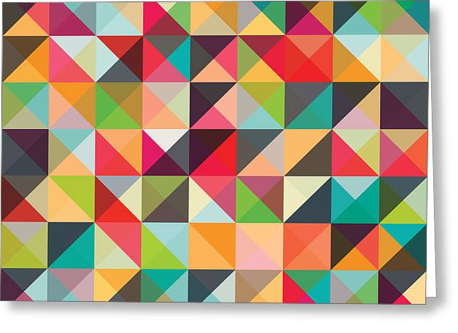 Geometric Artwork Greeting Cards - Geometric Art Greeting Card by Mike Taylor