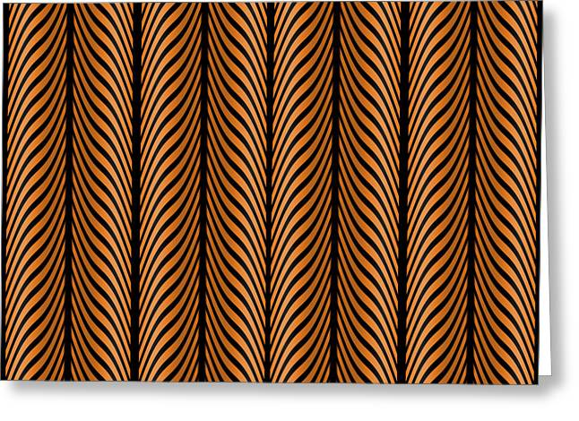 Abstract Style Greeting Cards - Geometric Black Brown 12 Greeting Card by Patricia Keith