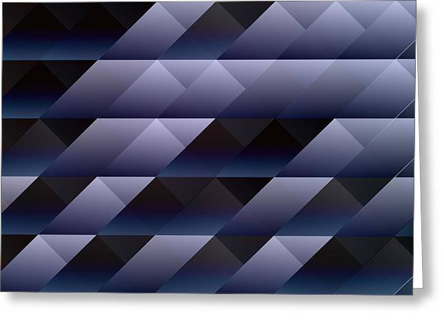 Computer Art And Digital Art Greeting Cards - Geometric blue gray Greeting Card by Gaspar Avila