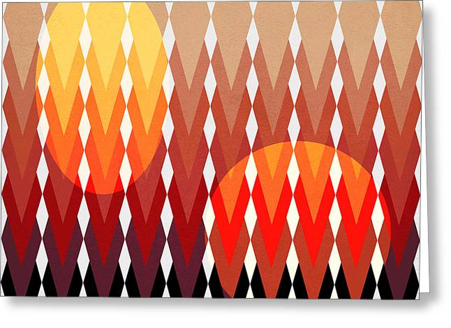 Surreal Geometric Greeting Cards - Geometric Fun Greeting Card by Mark Ashkenazi