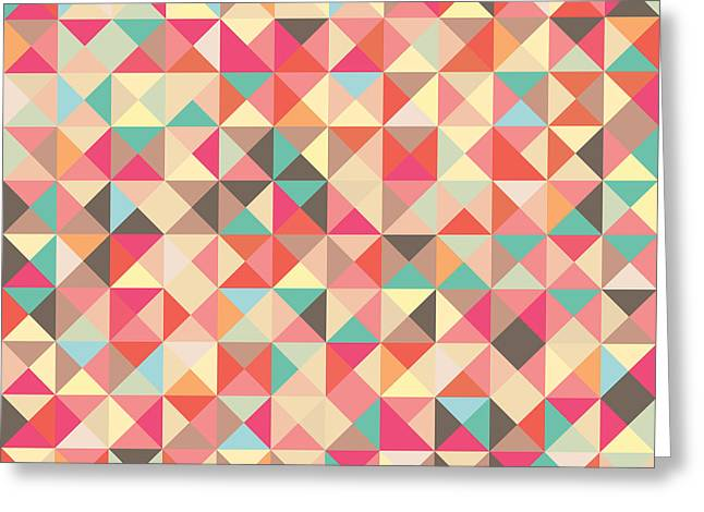 Geometric Artwork Greeting Cards - Geometric Pattern Greeting Card by Mike Taylor