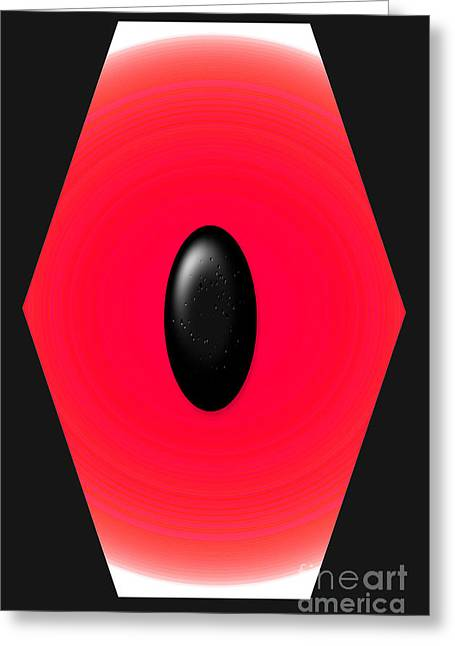 Geometric Shape Abstract 9 Greeting Card by Tina M Wenger