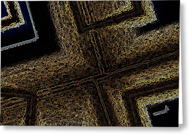Geometric Art Greeting Cards - Geometric Texture and Brown Greeting Card by Mario  Perez