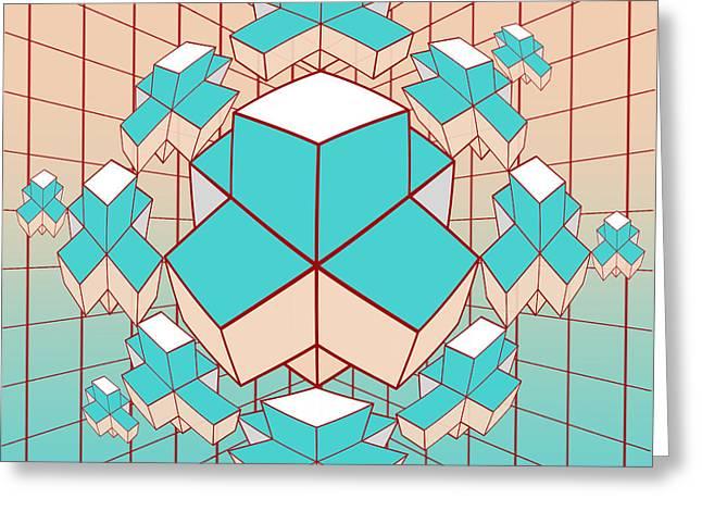 Surreal Geometric Greeting Cards - Geometric2 Greeting Card by Mark Ashkenazi