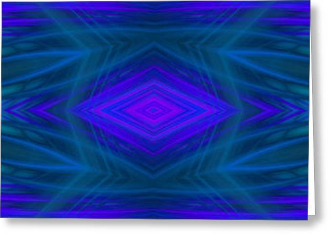 Modern Digital Art Digital Art Greeting Cards - Geometrical Abstract Greeting Card by Hanza Turgul