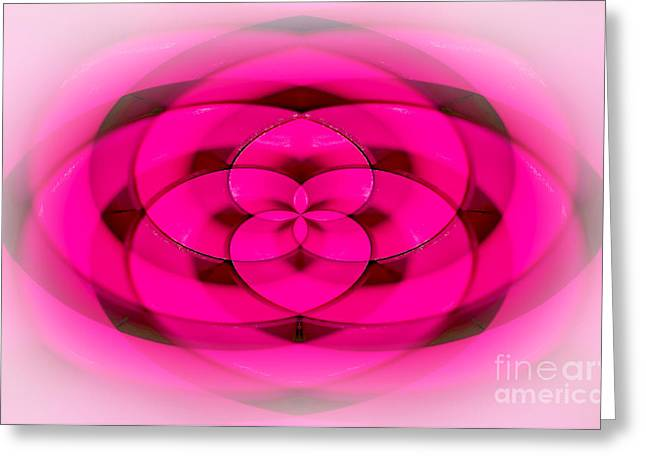 Geometrical Art Greeting Cards - Geometrical Colors and Shapes 4 - Hearts Greeting Card by Kaye Menner