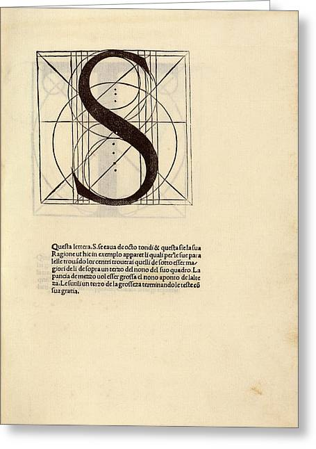 Geometrical Letter 's' Greeting Card by Library Of Congress