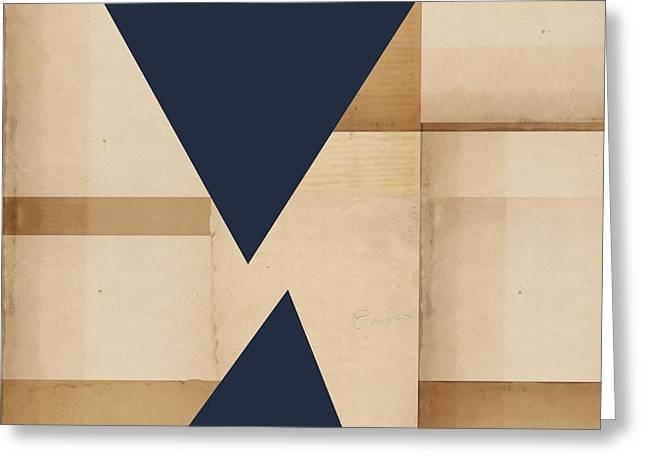 Geometry Indigo Number 2 Greeting Card by Carol Leigh