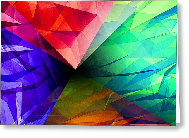 Geometric Shape Greeting Cards - Geometry of Light Greeting Card by Phil Perkins