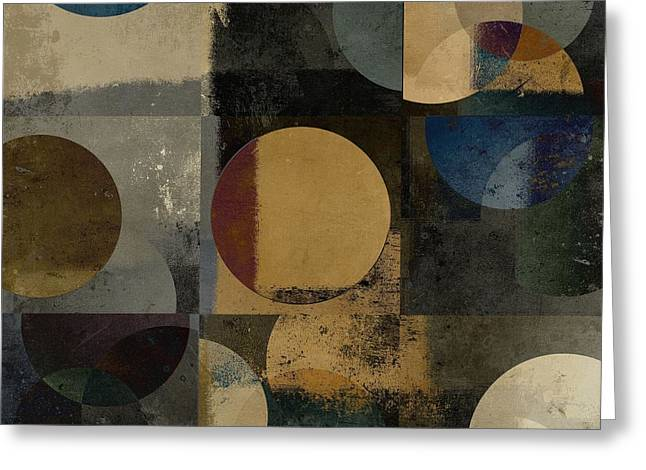 Beige Abstract Greeting Cards - Geomix 01 - 111bt2a Greeting Card by Variance Collections