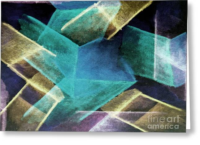 Zigzag Forms Greeting Cards - Geopastel Greeting Card by R Kyllo