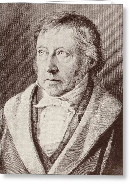 Black Tie Greeting Cards - Georg Hegel  Greeting Card by Anonymous