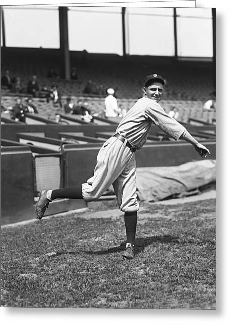 Detroit Tigers Photos Greeting Cards - George A. Hooks Dauss Greeting Card by Retro Images Archive