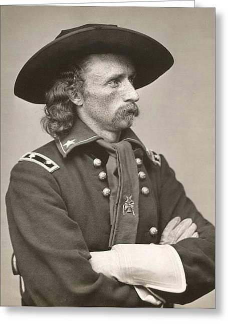 Military Greeting Cards - George Armstrong Custer Greeting Card by American School