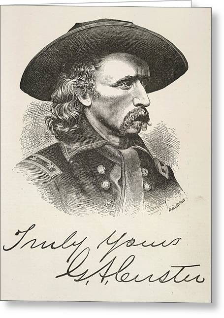 George Armstrong Custer Greeting Card by British Library