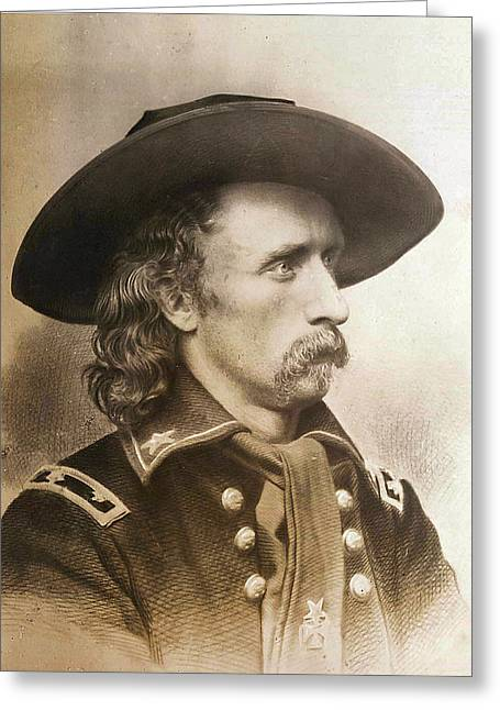 General Custer Greeting Cards - George Armstrong Custer Greeting Card by Unknown