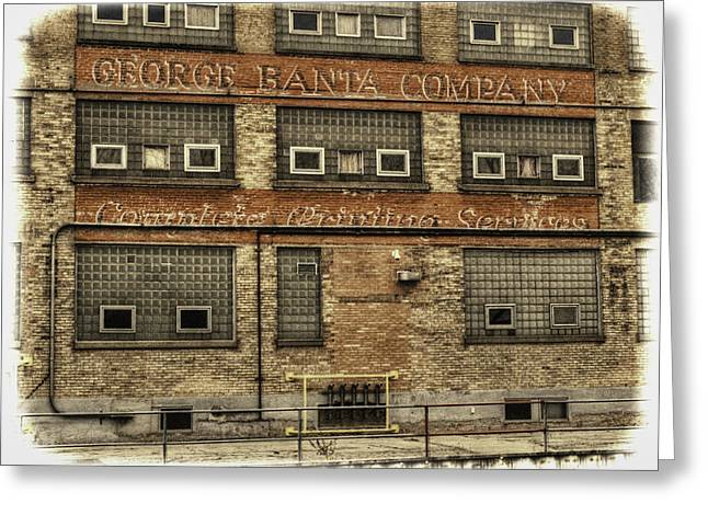 Thomas Young Photography Greeting Cards - George Banta Company Greeting Card by Thomas Young