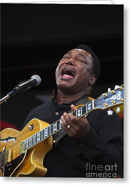 Craig Lovell Greeting Cards - George Benson Sings Greeting Card by Craig Lovell