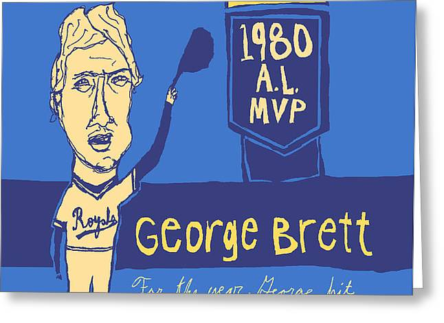George Brett KC Royals Greeting Card by Jay Perkins