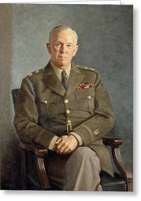istic Photography Paintings Greeting Cards - George C Marshall Greeting Card by Celestial Images