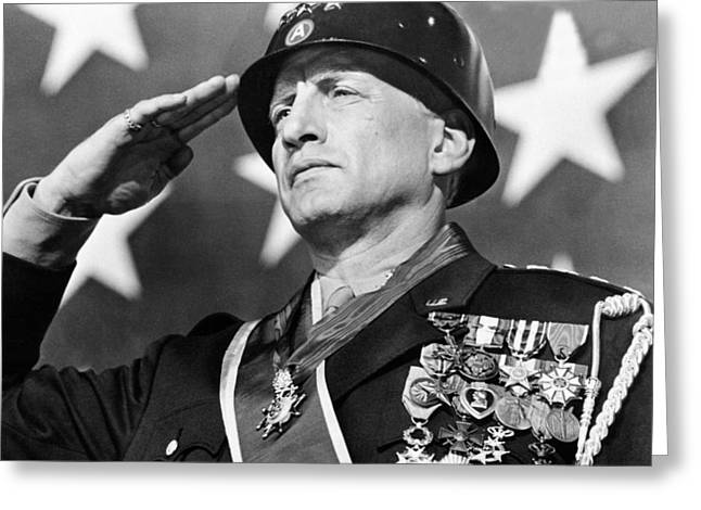 George C. Scott Greeting Cards - George C. Scott in Patton  Greeting Card by Silver Screen