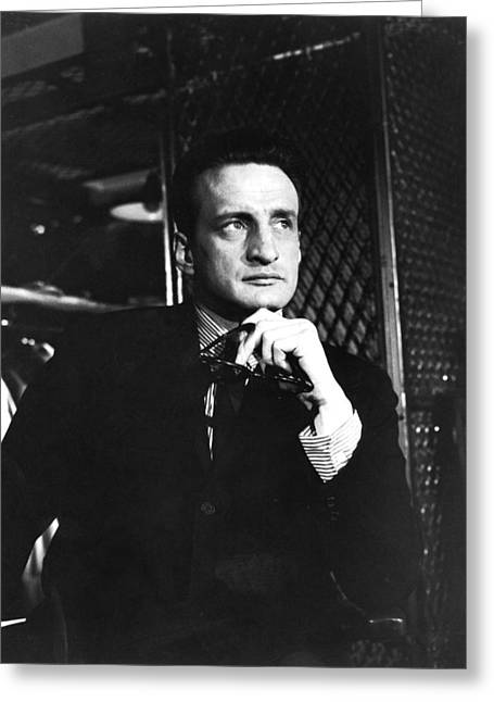 George C. Scott Greeting Cards - George C. Scott in The Hustler Greeting Card by Silver Screen