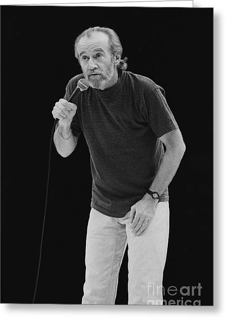 Carlin Greeting Cards - George Carlin Greeting Card by Front Row  Photographs