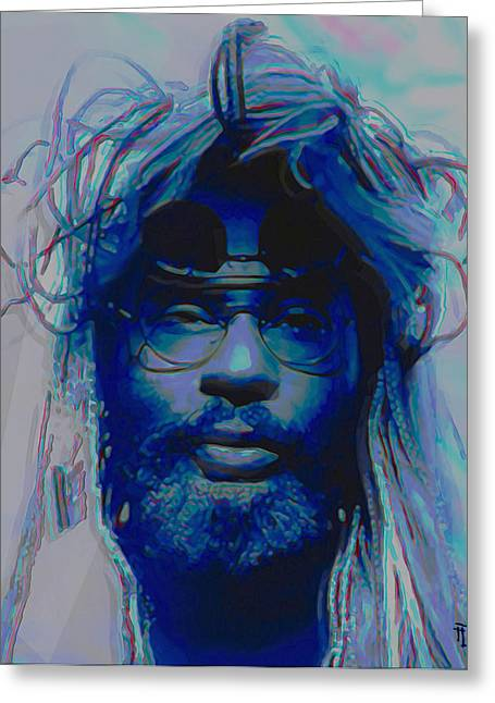 Celebrity Greeting Cards - George Clinton Greeting Card by  Fli Art