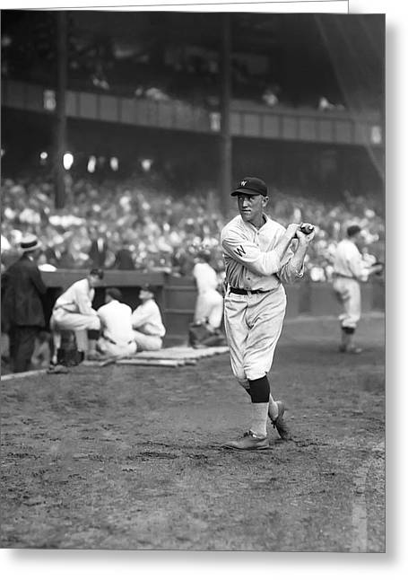 Baseball Bat Greeting Cards - George E. Earl McNeely Greeting Card by Retro Images Archive