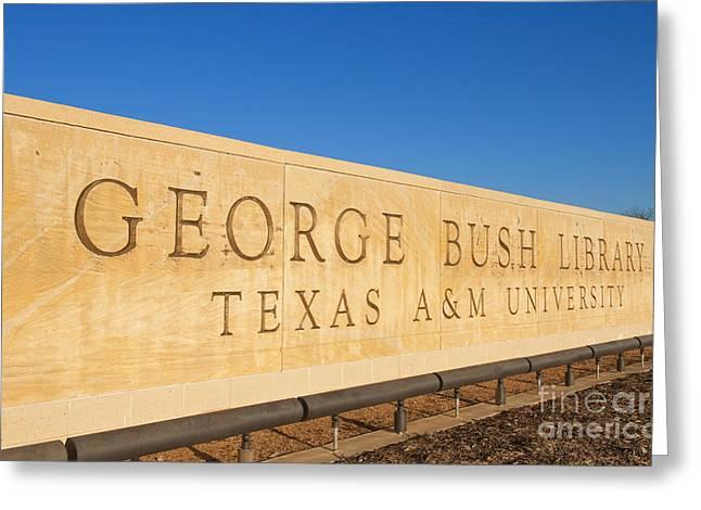 George H. Bush Library, Texas Greeting Card by Bill Bachmann