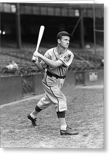 All Star Game Photographs Greeting Cards - George H. McQuinn Greeting Card by Retro Images Archive