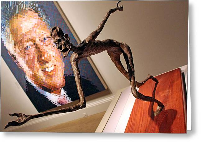 William Clinton Greeting Cards - George H W Bush As A Horseshoe Player Greeting Card by Cora Wandel