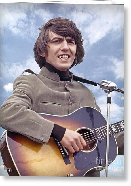 1964 Movies Greeting Cards - George Harrison 1964 Greeting Card by Martin Konopacki