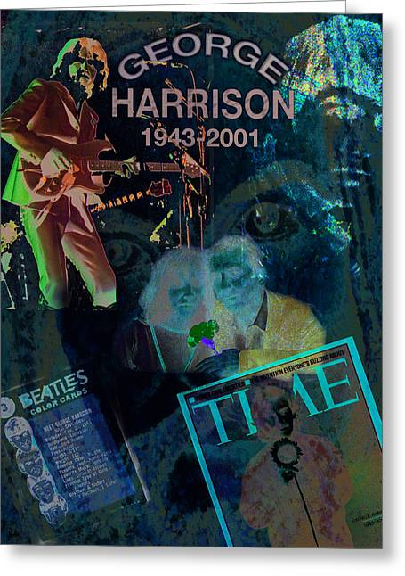 George Harrison Images Greeting Cards - George Harrison Greeting Card by Melinda Saminski