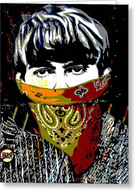 Graffitis Greeting Cards - George Harrison Greeting Card by RicardMN Photography
