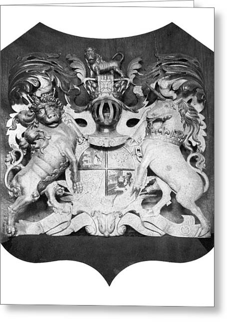 Old House Photographs Greeting Cards - George Iii: Coat Of Arms Greeting Card by Granger