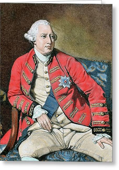 George IIi (london, 1738-windsor, 1820 Greeting Card by Prisma Archivo